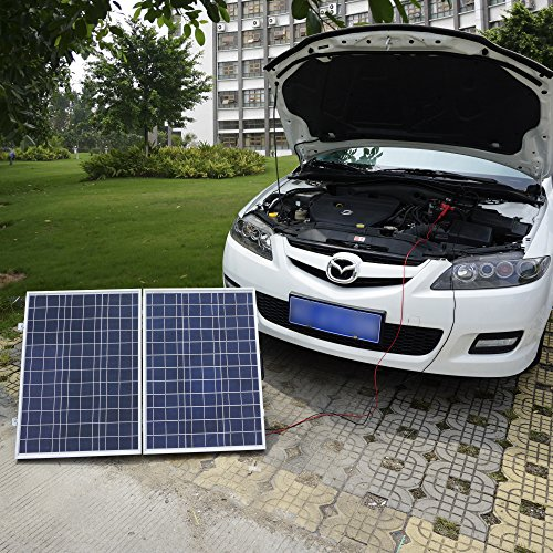 Eco Worthy W Watt Portable Kits W X W Folding Pv Solar Panel V Rv Boat Off Grid W A Charge Controller on Military Solar Battery Charger