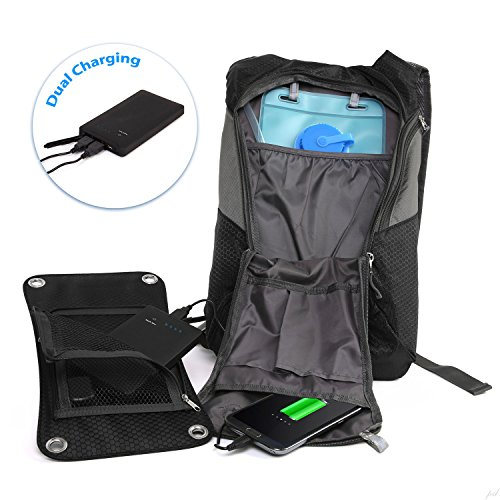 Ivation 7 W Solar Charging Panel 1 8l Hydration Backpack