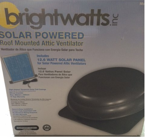 Premium Solar Attic Fan Ultra Efficient Brushless Dc