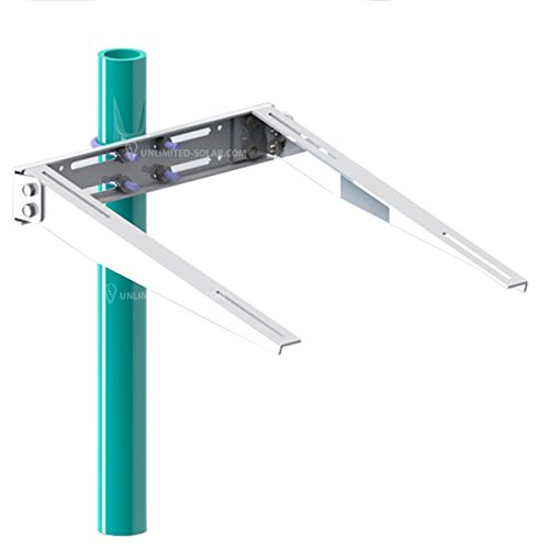 Solar Panel Side Of Pole Universal Double Arm Pole Wall