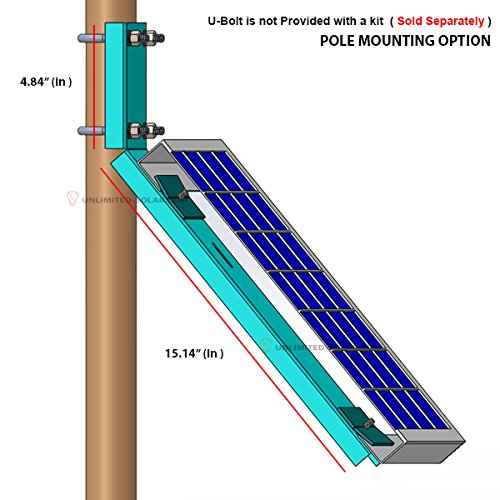 Unlimited Solar Universal Solar Panel Side Of Pole Wall L