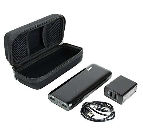 100% authentic 70b14 5840b Caseling Hard Case for Anker 2nd gen astro e5 16000mah portable charger  external battery power bank - Mesh Pocket for Adapter & Cables.