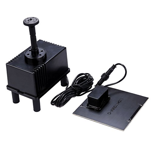 Newstyle 7v 1 5w solar power panel kit water pump with for Submersible pond pump and filter