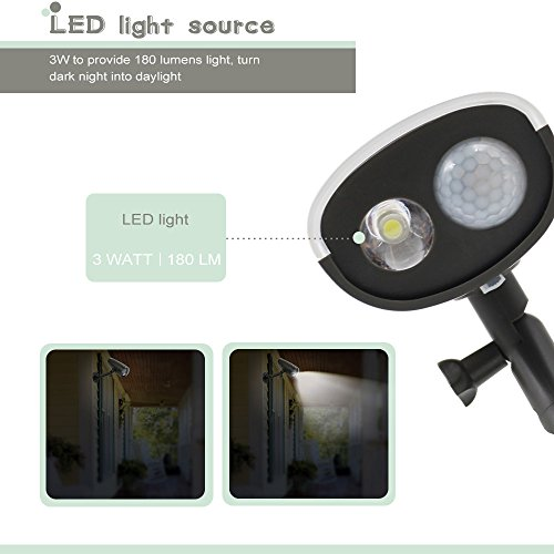 Cheap Pack Led Solar Powered Outdoor Security Light With Pir Motion Sensor  And Photocell Sensor Auto