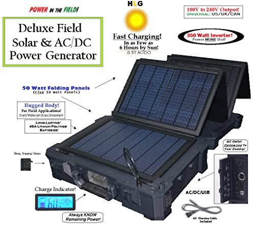 HomeLifeGoods 350W Portable All-In-One AC/DC/Solar Field ...