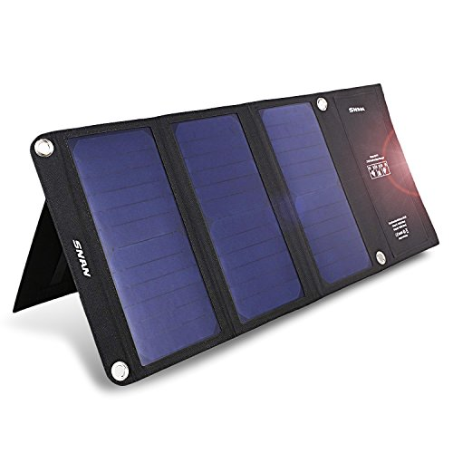 Snan Portable 21w Dual Usb Solar Charger With Foldable