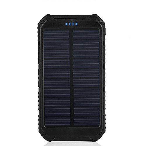 Solar Charger Pobon Portable 10000mah Dual Usb Output