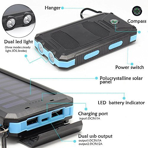 Solar Charger Solar External Battery Pack March