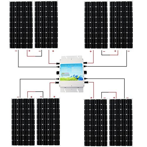 ECO-WORTHY Complete 300w 500w 600w 800w 1000w 1kw Grid Tie Off Grid Solar  Panel Kit Solar System