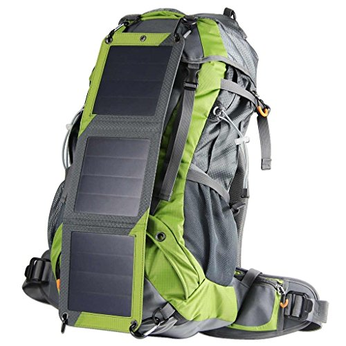 Eceen Solar Powered Backpack Pack Sun Charged Hiking