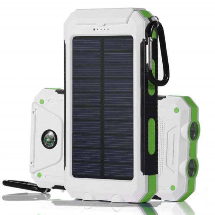 new style dd9b6 0a807 Waterproof Solar Power Bank 300000mAh Portable External Battery Charger  White US