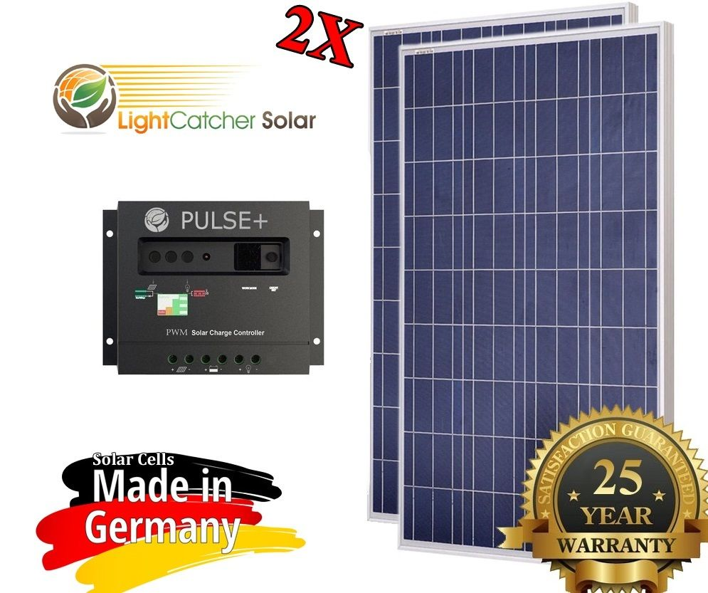 0 Watt 0W Solar Panel Kit + Solar controller 12/24V volt RV Boat Off Grid