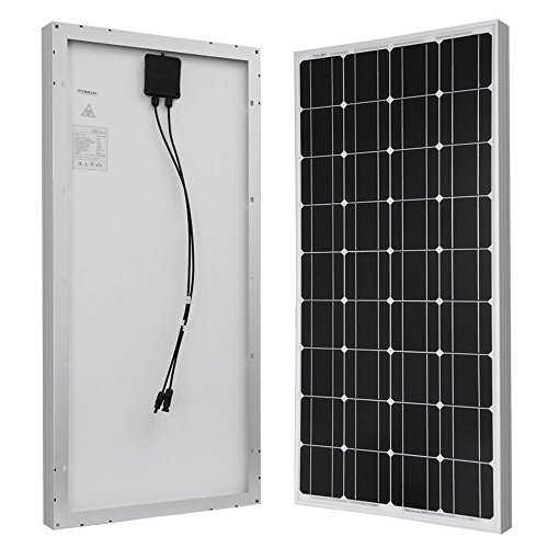 Hqst 100 Watts 12 Volts Monocrystalline Solar Panel Top