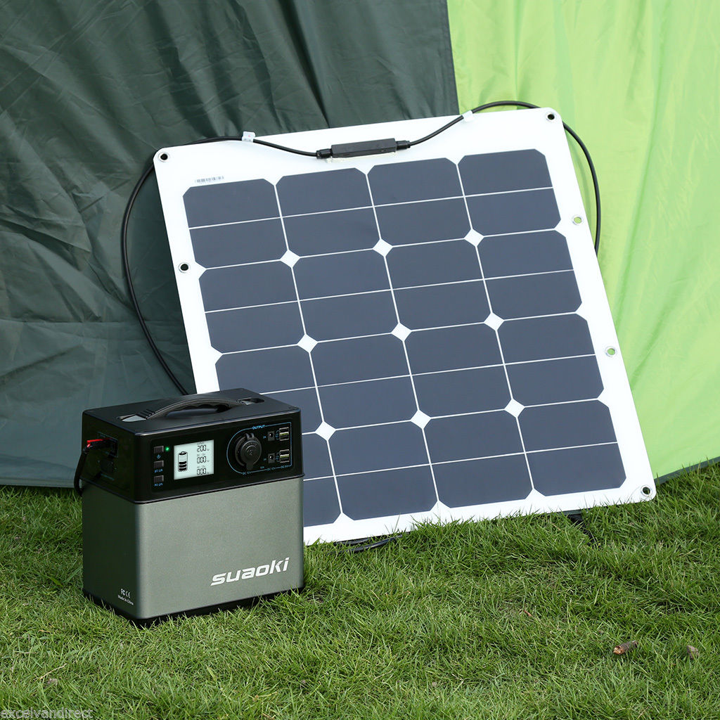 Suaoki Portable 400wh Solar Electric Start Gas Power