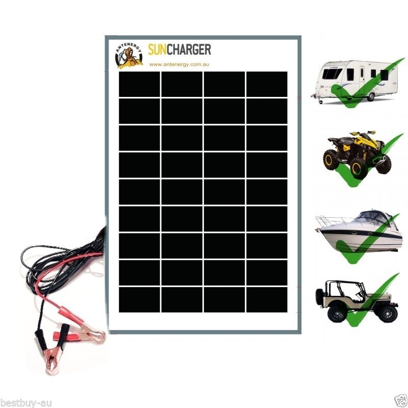 Portable Solar Trickle Battery Charger For Car Rv Marine