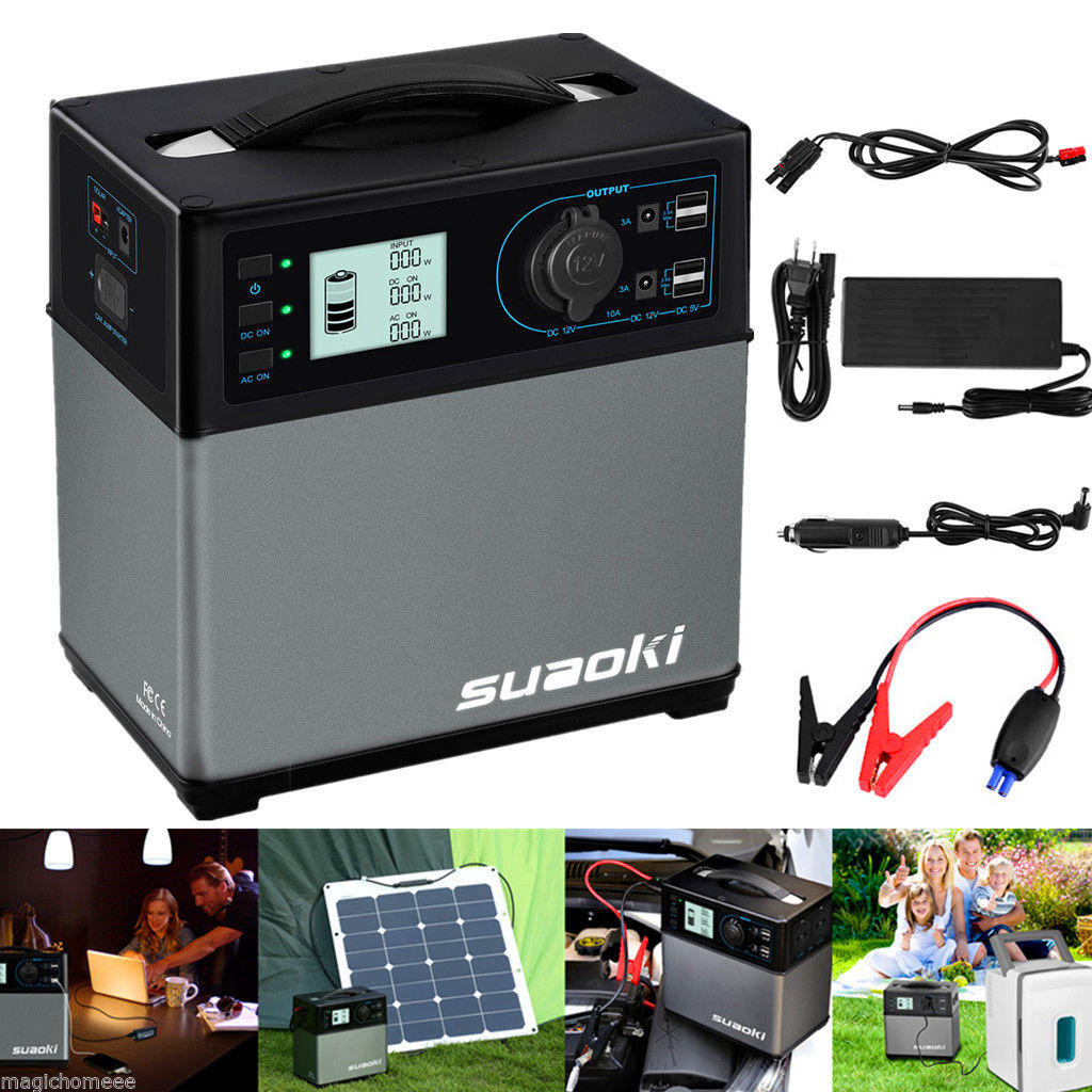 400wh Portable Solar Power Generator Supply Electronic