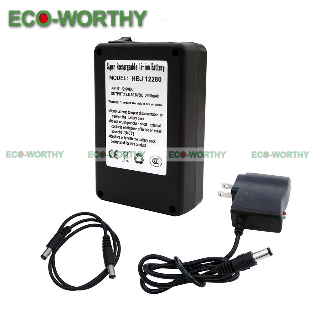 Dc 12v 2800mah Super Rechargeable Lithium Ion Battery